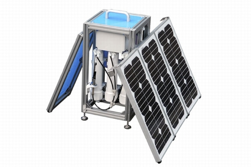 Photo: Small Solar-Powered Water Purification System