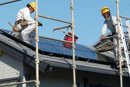 Photo: Solar PV panel and system installation