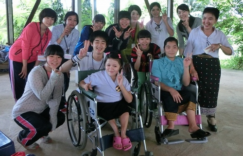 Photo: Wheelchairs to Laos
