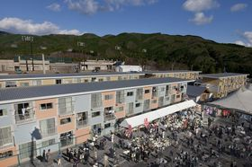 Photo: Container Temporary Housing, 2011, Onagawa, Miyagi, Japan