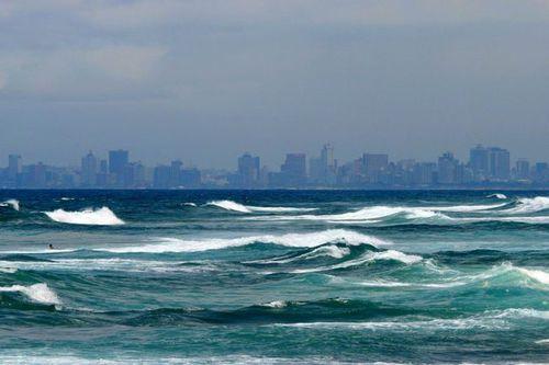 Photo: Sea and Durban Skyline