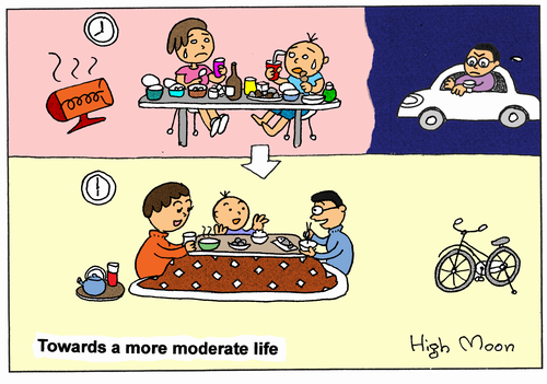 Towards a more moderate life