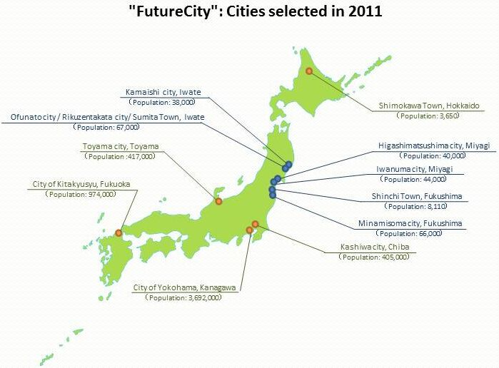 Afbeeldingsresultaat voor selected regions for the future environmental city concept japan