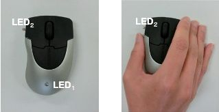 Photo: Wireless mouse without external on/off switches