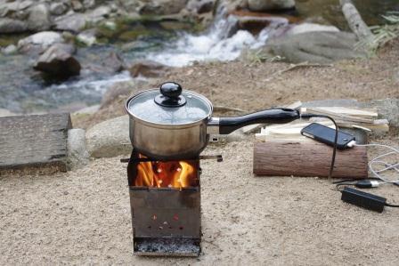 Photo: Small power generation pot