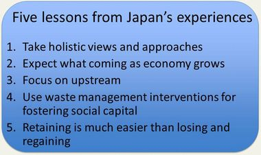 Slide: Five lessons from Japan's experiences
