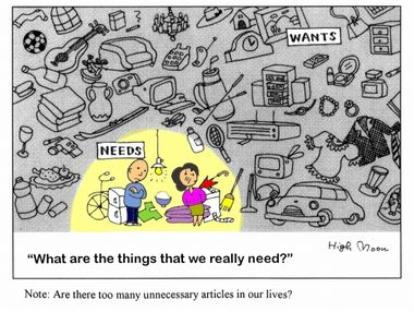 Manga: What are the things that we really need?