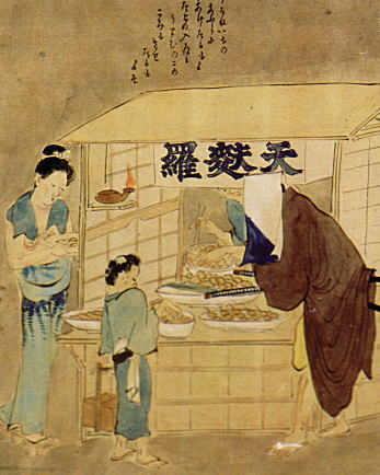 Photo: Tmpura stand in the Edo Period