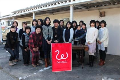 Photo: Women in Watari Town organizing handwork project