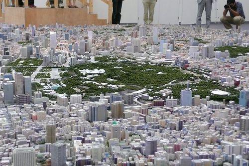 写真:「東京 1/1000」の模型