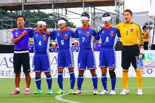 写真:ブラインドサッカー