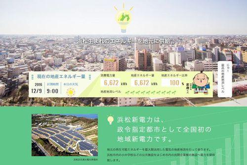 浜松新電力ウェブサイト