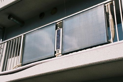 Cost Of Solar Panels >> Reducing CO2 by Low-cost Solar Hot Water System Located in Condominium Veranda | Japan for ...
