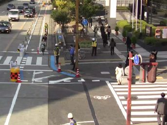 JFS/Nagoya's Bicycle Lane Safe for Bicycles, Pedestrians, No Negative Impact on Drivers