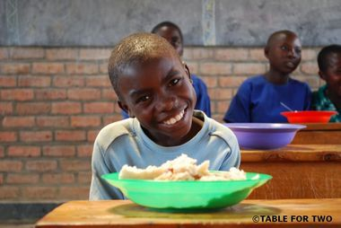 """JFS/""""TABLE FOR TWO"""" Promoting Healthier Meals Locally and School Lunch Donations Internationally"""