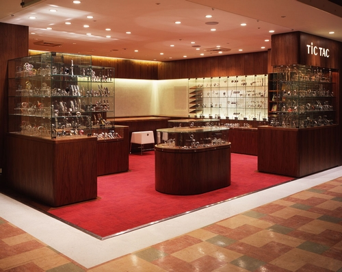2012 new design luxury watch shop display showcase with LED lighting