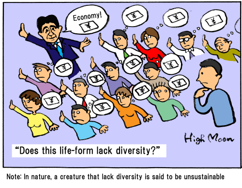 """Does this life-form lack diversity?"""