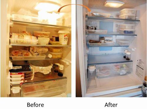 写真: 冷蔵庫ビフォーアフター