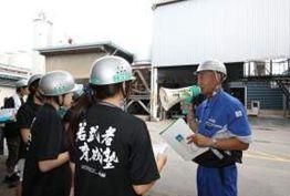 写真:工場での学習の様子